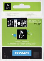 D1 Schriftband D1, Kunststoff, laminiert, 7 m x 24 mm, Weiß/Schwarz