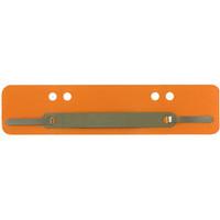 Staples Heftstreifen PP mit Metalldeckleiste orange 34x150 mm 100 Stück