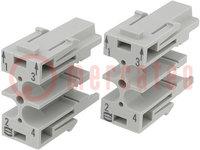 Conector: HAN; módulo; macho; Han Modular SC; UL94V-0; Módulos:1