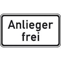 Anlieger frei, Zusatzschild StVO, Nr. 1020-30 , 42x23,1 cm StVO - Nr. 1020-30