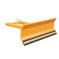 Stapler-Anbaugeräte Schneeschieber 1-fach verstellbar orange RAL 2000 180 x 72 c