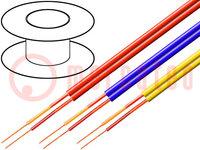 Leiding: microfoon-; 2x0,14mm2; geel; OFC; PVC; -15÷70°C; 2,9x5,8mm