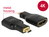 Adapter High Speed HDMI mit Ethernet - HDMI Micro-D Stecker an HDMI-A Buchse 4K schwarz, Delock® [65664]