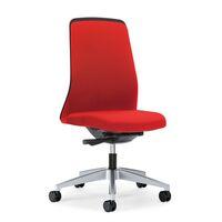 Otočná židle pro operátory EVERY, černé opěradlo Chillback