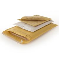 CD/DVD-Luftpolstertasche, Innenmaß 170x165 mm ( LxB ) -braun,mit SK-verschluss
