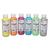 ART PLUS Lot de 6 flacons 250ml d'acrylique. Assortis : Jaune, oragne, Rouge, Bleu, Vert, Gris