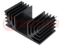 Hűtő: extrudált; SOT9,TO3,TO66; fekete; L:50mm; W:88mm; H:35mm