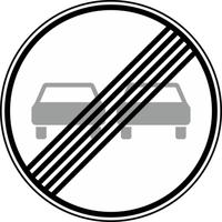 Modellbeispiel: VZ Nr. 280, (Ende des Überholverbots für, Kraftfahrzeuge aller Art)