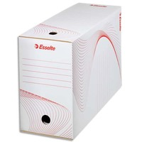 ESSELTE Boîte à archives , dos de 15 cm, en carton ondulé kraft blanc, conditionnement en caisse carton