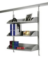 Bücherregal für Legaline DYNAMIC, 3 verstellbare Böden, Eloxiertes Aluminium