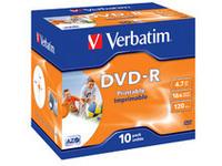 DVD-R, General, 16X, 4.7GBWide Print. ID Brand 10 Pack DVD-R/RW/RAM media