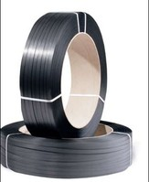 PP-Umreifungsband, 12 mm breitx2500 lfm, 0,55 mm Stärke, schwarz - Palettenware
