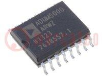 Digitális izolátor; 2,7÷5,5VDC; SMD; SO16; Csatorna:1; 2,5kV