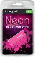 USB-STICK INTEGRAL 8GB 2.0 NEON ROZE