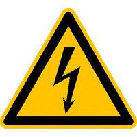 Warnung vor gefährlicher elektrischer Spannung Warnschild, Kunststoff, 20 cm DIN EN ISO 7010 W012 ASR A1.3 W012