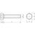 Skizze zu ISO4017 8.8 M10x 35 blank Sechskantschraube ohne Schaft