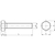 Skizze zu ISO4017 10.9 M20x240 verzinkt Sechskantschraube ohne Schaft (DIN 933)