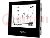 Paneel-vermogenmeter; LCD (192x160); V DC: ±500V; V AC:0÷500V