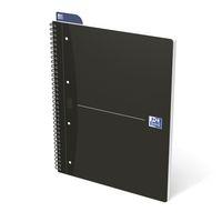 Oxford Office Essentials A4+ 70 Bl Collegeblock lin/kar 90g 4fach gelo, 5er-Pack