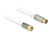Antennenkabel F Stecker an IEC Stecker RG-6/U quad shield 10 m weiß Premium, Delock® [89410]