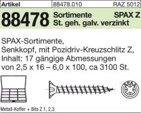 ABC-SPAX Sortimente Montagekoffer