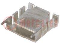 Radiatore: stirato; TO218,TO220; L:25,4mm; W:25mm; H:8,3mm; 18K/W