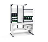 Produktbild - avero Komplettmodul 1 höhenverstellbar BxTxH: 1500x870x2037-2437mm RAL 7016 / RAL 7035