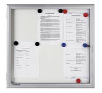 Legamaster Schaukasten PREMIUM Whiteboard für den Außenbereich, 8x DIN A4