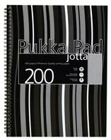 Pukka Pad Jotta Notebook Wirebound Perforated 80gsm 4-Hole 200pp A4 Black Stripes Ref JP018-5 [Pack 3]
