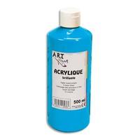 ART PLUS Acrylique brillante 500ml Bleu primaire