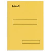 ESSELTE Boîte de 100 sous-dossiers 160g à 2 rabats jaune Scor , pour dossiers armoire et tiroir