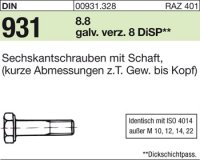 DIN931 M8x90