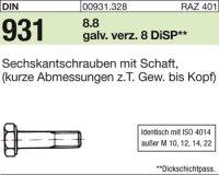 DIN931 M20x70