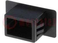 Blende; Polyamid; schwarz; UL94V-2; Frontplattenstärke:1,4÷3,5mm