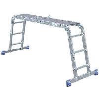 Gelenk-Universal-Leiter, Höhe 4,7 m, Länge 3,6 m, Sprossenanz. 4x3, Gewicht 13,5 kg