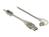 Kabel USB 2.0, Stecker A an Stecker B 90° gewinkelt unten, transparent, 1m, Delock® [84812]