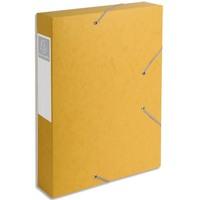 EXACOMPTA Boîte de classement dos 6 cm, en carte lustrée 7/10e coloris jaune