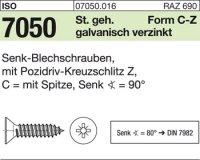 Senk-Blechschrauben 2,2x9,5-C-Z