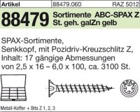 ABC-SPAX Sortimente Montagekoffer