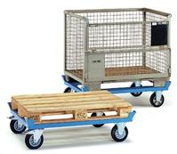 Paletten-Fahrgestell, Tragkraft 750 kg Ladefläche LxB 1210x810 mm
