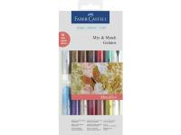 Gelatos aquarelkrijt Faber-Castell 15-delig metallic kleuren