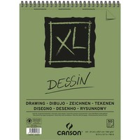 CANSON Bloc de 50 feuilles de papier dessin XL DESSIN 10 160g A3