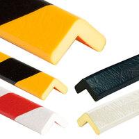 Eckschutzwinkel Normelement Typ H, Rolle 5,0 m lang, selbstklebend, schwarz/gelb
