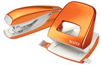 Locher NeXXt 5008 und Heftgerät NeXXt 5502 im Set, orange metallic