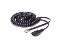Jabra QD/RJ10 Cable 0,5 m Zwart