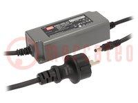 Tápegység: impulzusos; LED; 60W; 24VDC; 2,5A; 90÷264VAC; 127÷370VDC