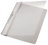 Einhängehefter Universal, A4, 2 kurze Beschriftungsfenster, PVC, grau