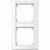 M-SMART-Rahmen, 2fach m. Beschriftungsträger, senkr. Montage, aktivweiß glänzend