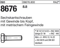 ISO8676 M12x1,5x70