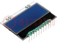 Kijelző: LCD; alfanumerikus; STN Negative; 10x2/10x4; kék; PIN:10